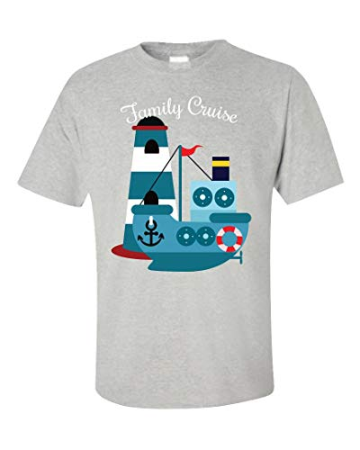 - Family Cruise Vacation Multi Generational Vacation Design for Parents Kids - Unisex T-Shirt Ash Grey