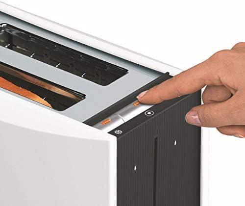 JM- Toaster,2 Slice Toaster met 9 Browning Control en 6 Pre-Set Programma's, RVS Toaster met Verwijderbare