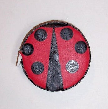 5' Tape Measure (Purse or Pocket Size - Ladybug 5 Foot Tape Measure - Retractable Cloth Tape - (Red - Black Outline))