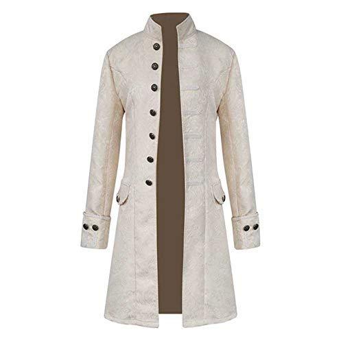 big sale 498b3 6883f Zolimx Cappotto Lungo degli Uomini, Cappotto Lungo da Uomo Steampunk Gothic  Vintage Giacca Uomo Inverno Caldo Vintage Frac Giacca Cappotto Outwear ...