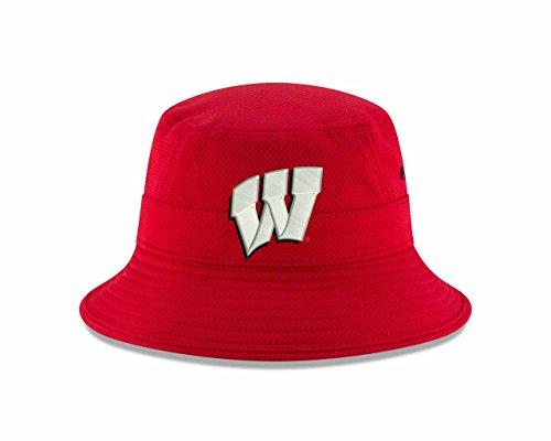 (New Era Wisconsin Badgers NCAA College Pride Bucket Hat - Red, One Size)