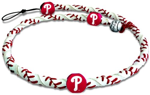 MLB Philadelphia Phillies Team Color Frozen Rope Baseball - Necklace Mlb Frozen Rope