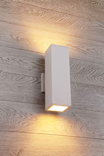 Cerdeco 37851TZ Brandon 2-Light Outdoor Wall Lamp, Matte White [UL Listed]