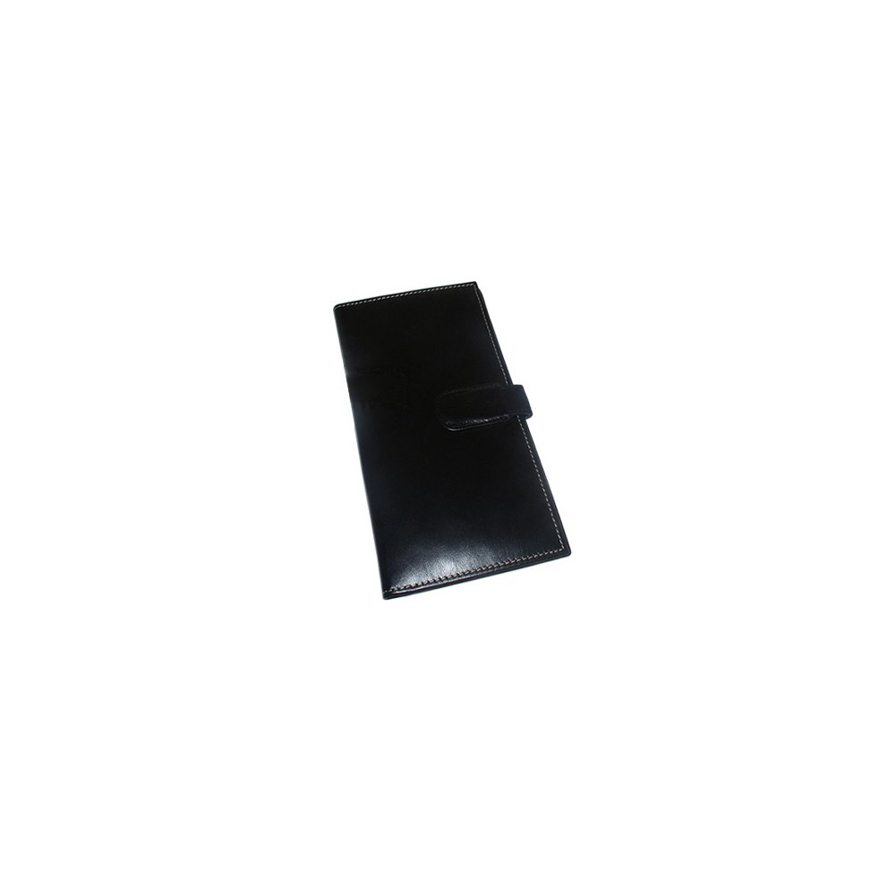 Leather Passport Boarding Pass Ticket Wallet Available in Black and Brown Colors