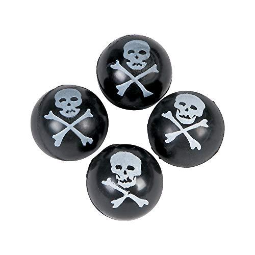 Fun Express - Skull and Bones Bouncing Ball (4dz) - Toys - Balls - Bouncing Balls - 48 Pieces