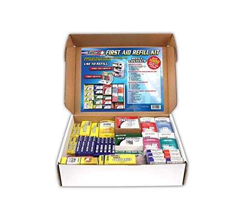 Rapid Care First Aid 91003 Refill Kit for 4 Shelf First Aid Cabinet, 1,033 Pieces, For Over 150 ()