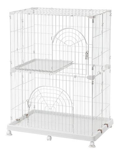 IRIS USA, Inc. Iris 2-Tier Wire Pet Cage, White