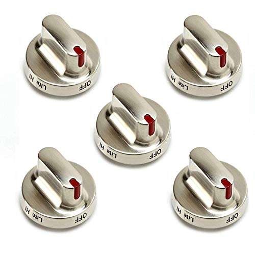 Replacement Range - Kitchen Basics 101 DG64-00472A DG64-00347B Dial Knob Replacement for Samsung Range Oven 5 Pack