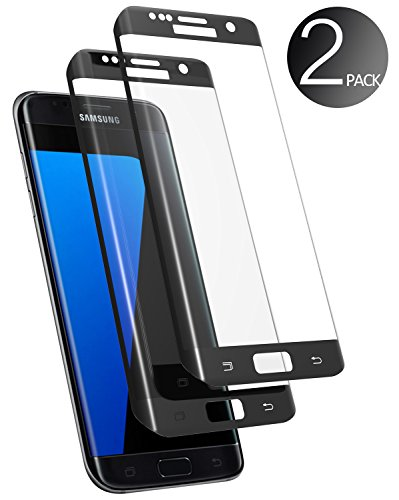 Samsung Galaxy S7 Edge Screen Protector, [2 pack] Deegotech 3D Full Coverage Tempered Glass Screen Film with [Crystal Clear] [9H Hardness] [Anti-Scratch] for Galaxy S7 Edge - black