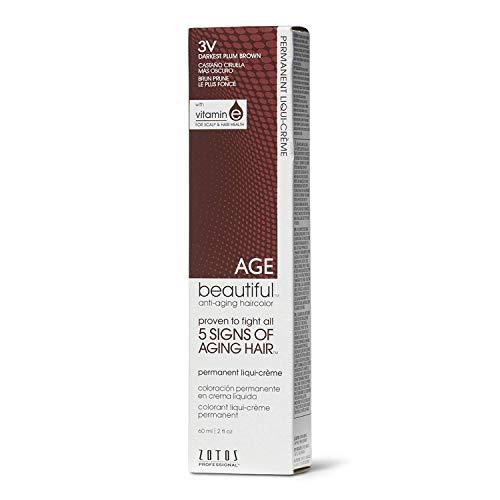 - AGEbeautiful 3V Darkest Plum Brown Permanent Liqui-Creme Hair Color 3V Darkest Plum Brown