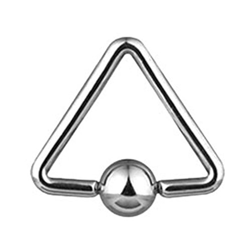"MsPiercing Triangle Captive Bead Ring, 16 Ga, 1/2"" (13Mm)"