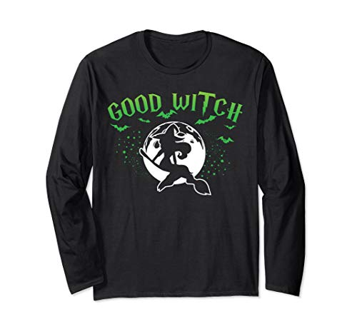 Halloween Good Witch Cool Graphic Costume For Girls Women Long Sleeve T-Shirt ()