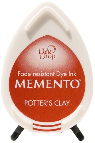 Tsukineko Memento Dew Drop Fade Resistant Inkpad of All Kinds, Potter's (Memento Potters Clay)