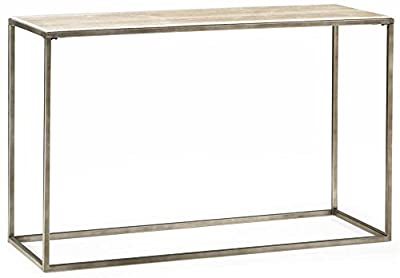 Hammary Sofa Table in Natural Travertine