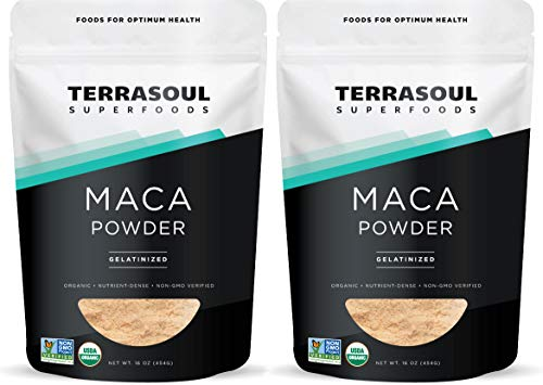 Terrasoul Superfoods Organic Gelatinized Maca Powder, 2 Lbs - Premium Quality | Supports Increased Stamina & Energy | Gelatinized for Easy Digestion (Concentrated Hormonal Support)