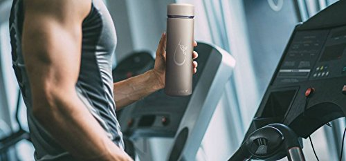 Last Drop Stylish Water Bottle---the best vacuum insulated water bottle coffee mug made from stainless steel16oz double wall matte color leak-resistant keep cold for 24hrs and hot for 12hrs by LAST DROP (Image #6)
