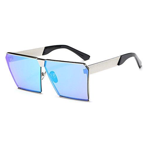 ONMeT Oversized Square Sunglasses 2017 Aviator For Women Men Polarized Gradient Lens (Silver, - Select Frames Face Glasses Shape
