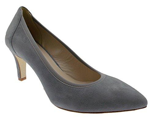 MELLUSO Chaussure decolt Jeans Classique de Bas en Cuir en Daim Gris Femme D078E qVG8PaNz