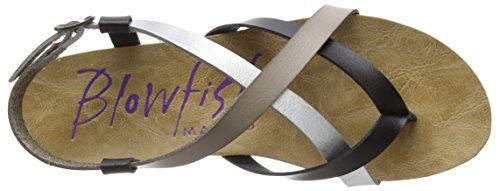 Blowfish Granola, Women's Sandals Black (Multi Black Mushroom Silver)