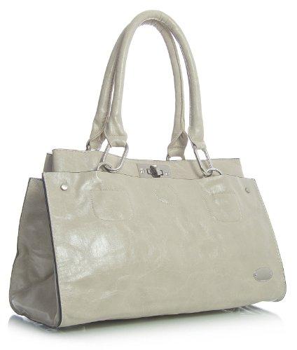 Big Beige spalla ecopelle Hell borsa Shop Handbag in donna lo Beige Z8wrZnTq