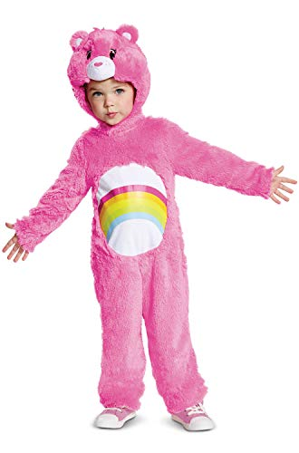 Disguise Cheer Bear Deluxe Plush Child Costume, Pink,