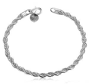 925 jewelry silver plated bracelet