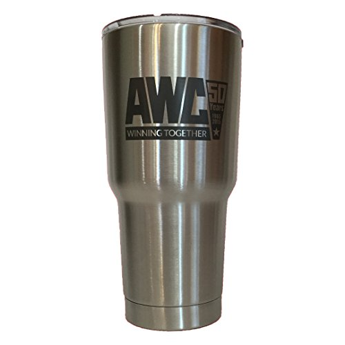 We can personalize this 30 oz tumbler by laser marking your custom image or business logo in black