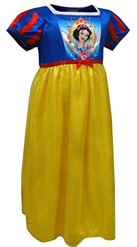 Disney Little Girl's Snow White Fantasy Nightgown Sleepwear, White as Gold, 4 Snow White Clothing