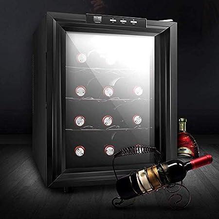 JJSFJH Hogar refrigerador de encimera vino Cella Congelador, Frigorífico, independiente de cristal de la puerta silencioso funcionamiento Nevera