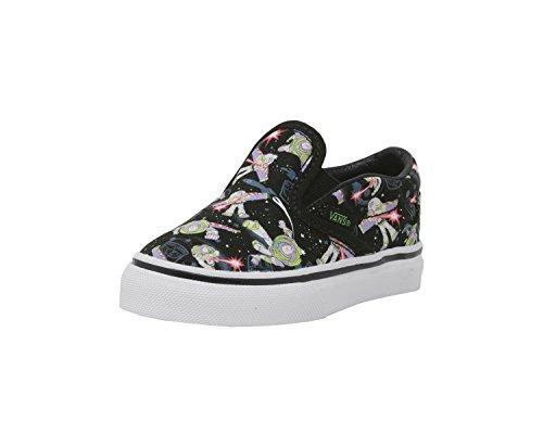Vans Kids Classic Slip-On (Toy Story) Skate Sneakers, Black