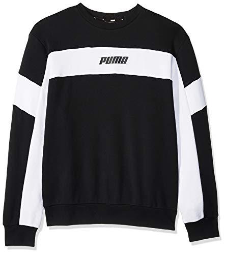 Ribbed Sweatshirt Rebels - PUMA Men's Rebel Crewneck Sweatshirt, Cotton Black, M