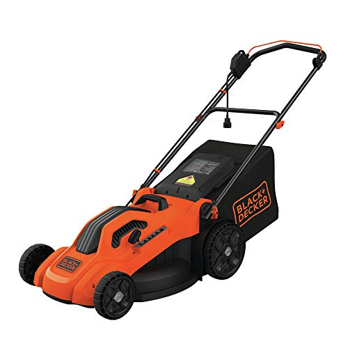 BLACK+DECKER BEMW213 20' Electric Lawn Mower, 13-Amp, Orange