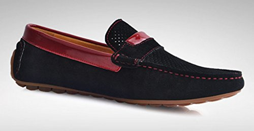 Crc Mens Moda Casual Comfort Slip On In Pelle Scamosciata Di Alta Qualità A Piedi Scarpe Da Barca Guida Nero