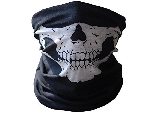 Multifunctional Skull Motorcycle Mask, Seamless Tube, Balaclava, Dust Mask, Neck Gaiter Warmer...