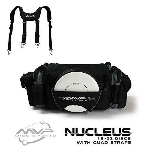 MVP Disc Sports Nucleus Tournament Disc Golf Bag with Quad Straps - Slate