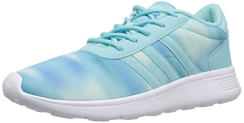 adidas Women's Lite Racer Running Shoe Clear Aqua/White 7.5 B - Medium (Adidas Neo Womens Lite Racer Casual Shoes)