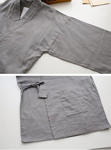 メンズ パジャマ ゆかた ルームウエア 甚平 和風 前開き 部屋着 ナイトウエア おしゃれ 春秋 二色あり 上下セット