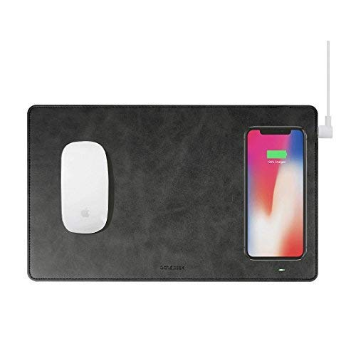 (Gaze PAD Qi Wireless Fast Charging Mouse Pad Mat for iPhone X iPhone 8 Galaxy S8 S9 Plus Samsung Note 8 9 (Black))