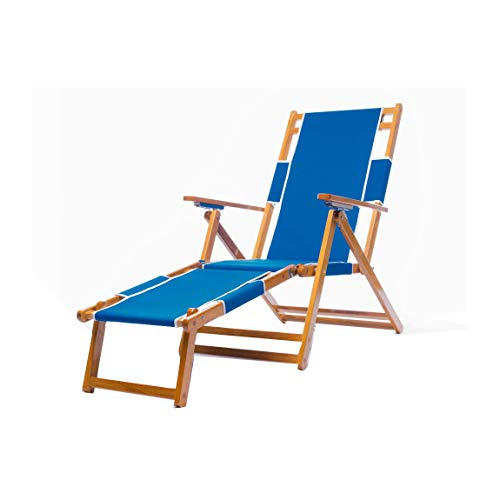 (Frankford Umbrellas Heavy Duty Commercial Grade Oak Wood Beach Chair/Chaise Lounger)