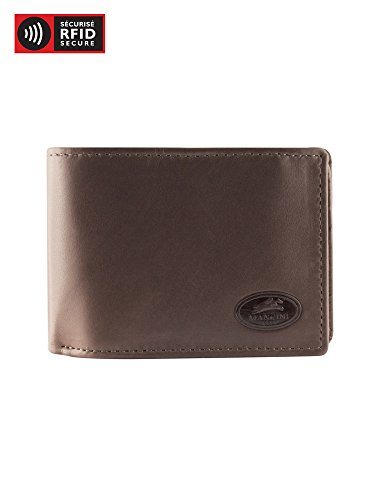 Secure Wing Men's Mancini RFID Brown Wallet Leather Men's Mancini Center wpIYx4