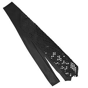 Black Sequin sparkle necktie Neck Tie (Black sequins)-Brand New in Factory Sleeve!