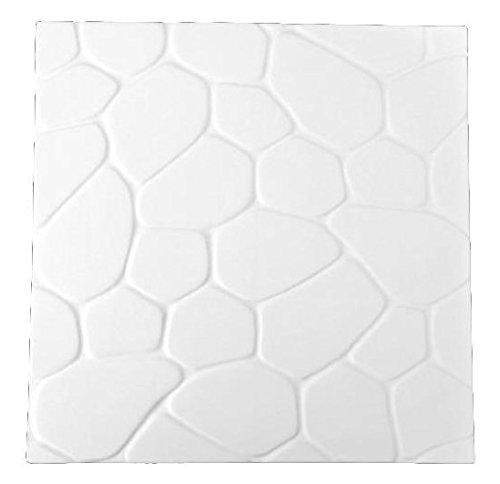 Cobblestone Large Textured Fusing Tile - Fusible Glass Slumping (Glass Fusing Textured Tile Mold)