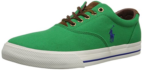 Polo Ralph Lauren Men's Vaughn Lace-Up Sneaker Flag Green Suede fast delivery sale online WJo87
