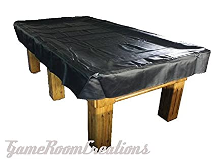 Pro Series Leatherette 9 Foot Pool Table Cover Color: Black