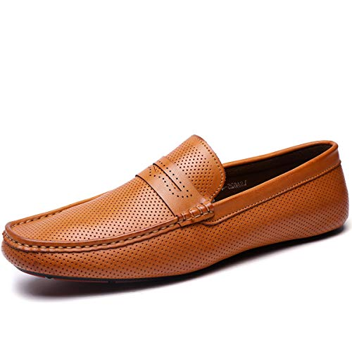 Men's Casual Loafers for Men Slip-on Driving Loafers Shoes Walking Shoes Brown 10 M US (Loafer Driving Shoes)