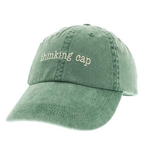 Thinking Cap Adjustable Baseball Hat Green Red Blue -