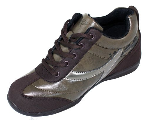 Increasing 2 Taller Shoes Height Women Sneakers CALDEN K9932 Brown Inches 8 xqSIwxY5g