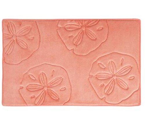 "Sand Dollars Sculpted Memory Foam Bath Mat 20""L x 32""W ()"