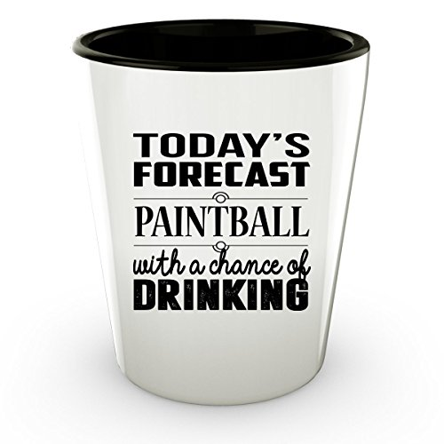 PAINTBALL Shot Glass - PAINTBALL Gifts - Unique Shot Glass, Coffee - Gs Quad 3000