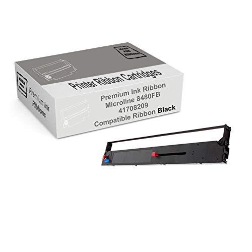 Mars POS Ribbons Compatible Ribbon Cartridge Replacement for Okidata Microline 8480 Black Ribbon Oki 41708209 ML8480